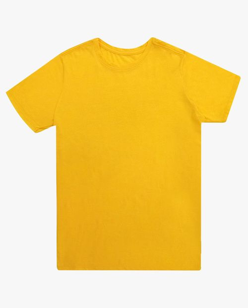 Camiseta crew neck amarillo