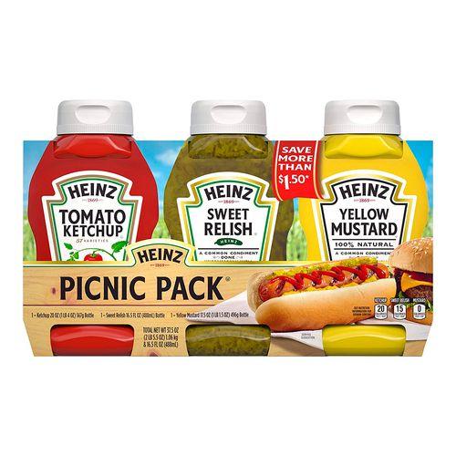 Heinz picnic pack 4/3pack 20 oz