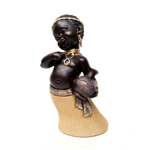 Africana decor 12x12.5x23.5cm