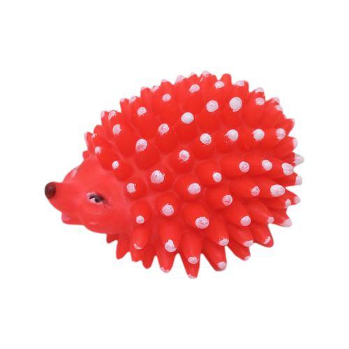 Juguete puercoespin rojo  pequeño