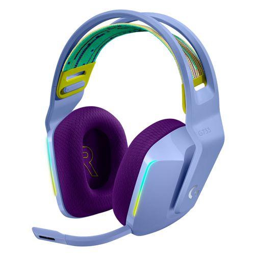 Audífono gaming G733 inalámbrico lightspeed lila