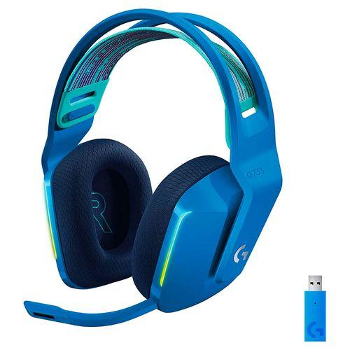 Audífono gaming inalámbrico G733 lightspeed RGB azul