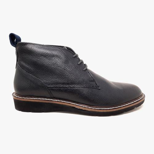 Bota de caballero bosley plain toe chu negro
