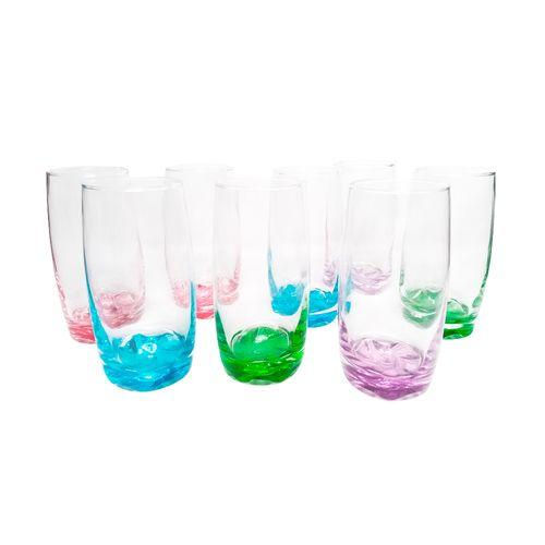 Set vasos 8 pc 13oz colores
