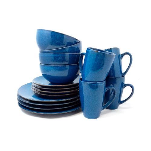 Set vajilla 16pzs cobalt azul