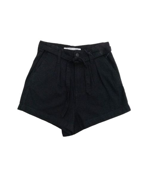 Short 3 uhr pleat black rinse 12