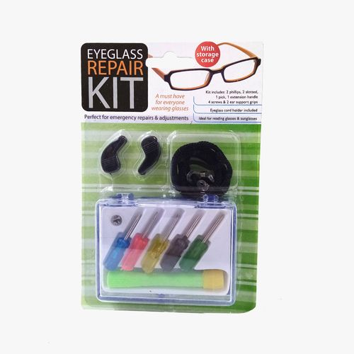 Kit de reparacion de lentes con estuche