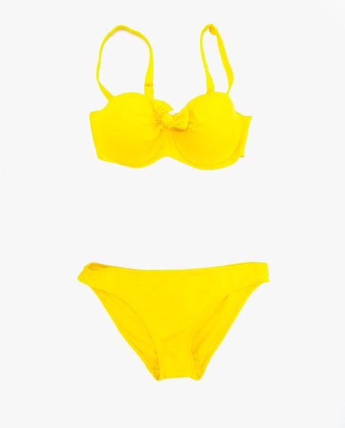 Bikini top y calzon amarillo