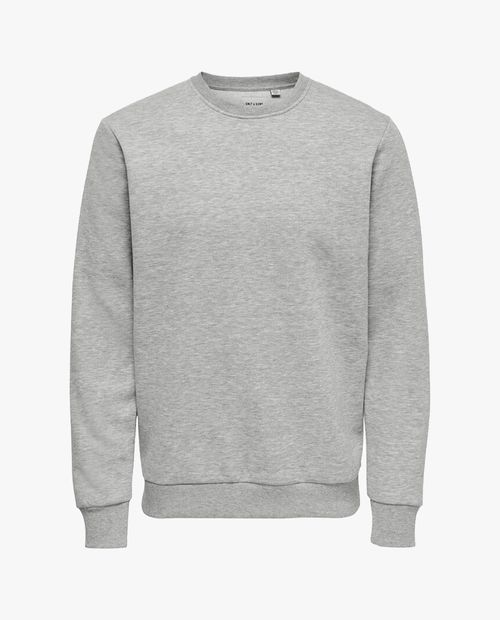 Sueter pull on gris para hombre