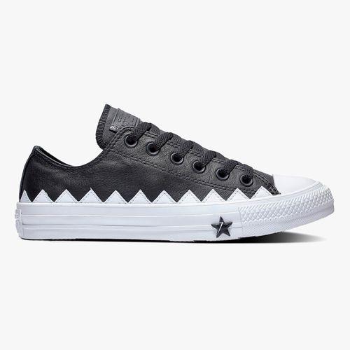 Calzado deportivo casual converse color negro/blanco para dama