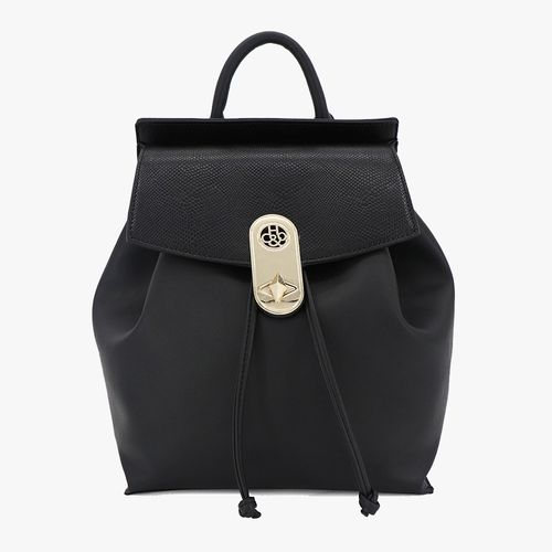 Cartera backpack h&co color negro para dama