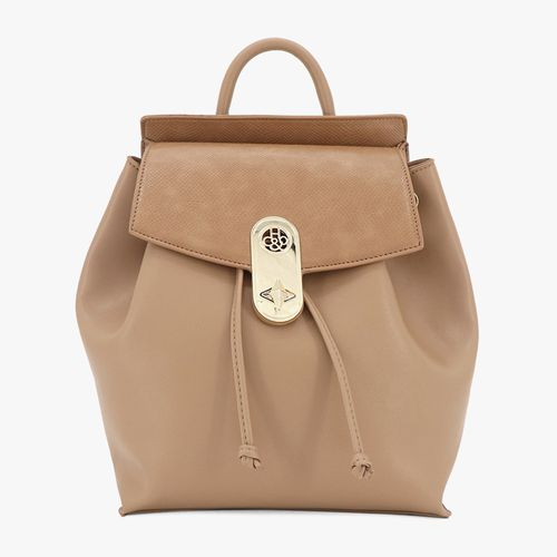 Cartera backpack h&co color camel para dama