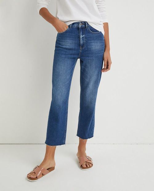 Jeans slim 80s straight hr tw verde royal