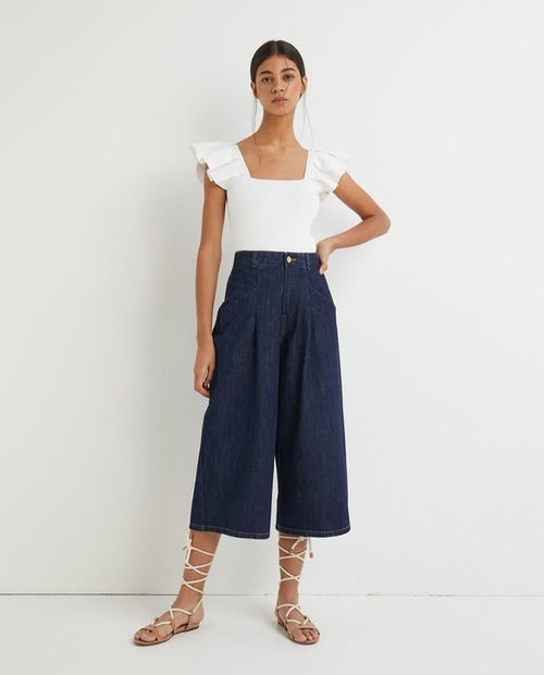 Jeans relaxed culotte hrlc tw rinse