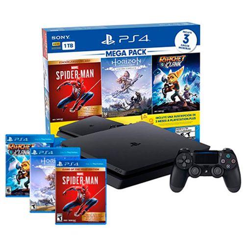Playstation 4 1tb megapack 15 (spiderman - horizon - ratchet)