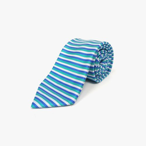 Corbata de poliester aqua