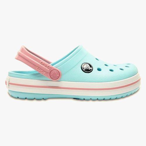 Calzado crocs celeste/rosado para niña