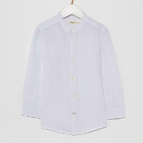 Camisa casual manga larga blanca para niño