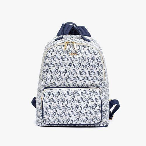 Cartera backpack h&co color navy para dama