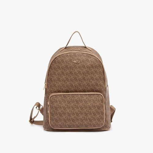 Cartera backpack h&co color khaki para dama