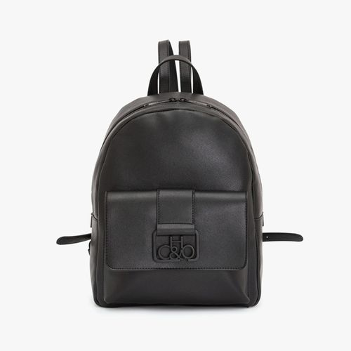 Cartera backpack h&co color negro para dama