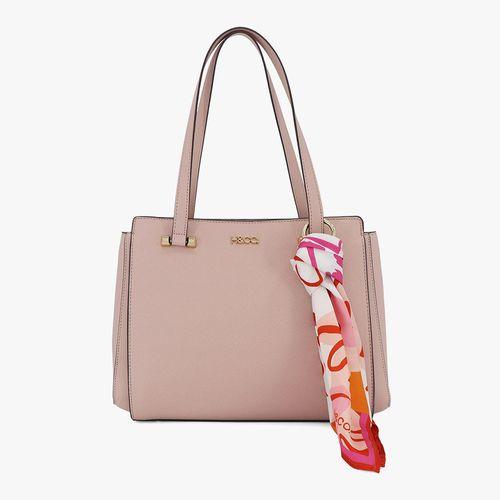 Cartera satchel h&co color rosa para dama