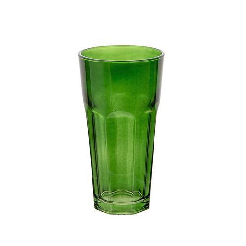 Set 4 vasos 16oz vidrio verde