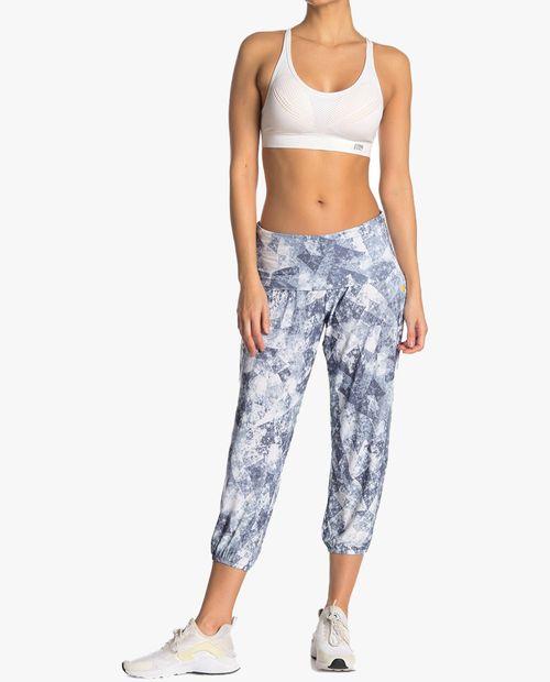 Pantalon de yoga estampado azul/gris