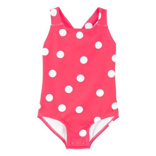 Calzoneta baño rosa polka dots