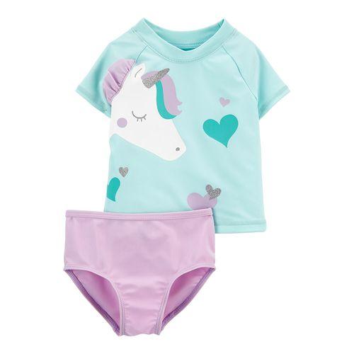 Traje de baño niña dos piezas unicornio
