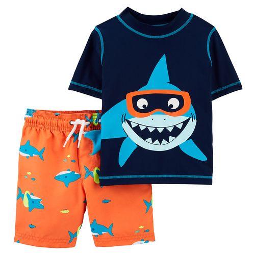 Traje de baño dos piezas tiburón niño