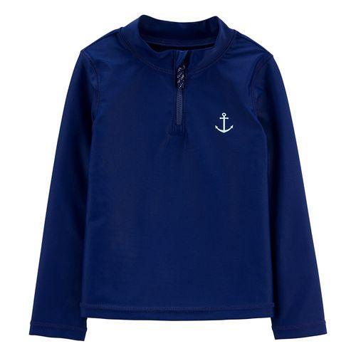 Camisa manga larga para baño navy ancla niño