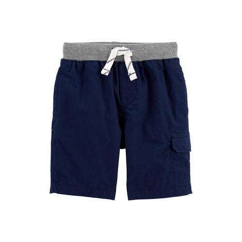 Short cargo niño azul