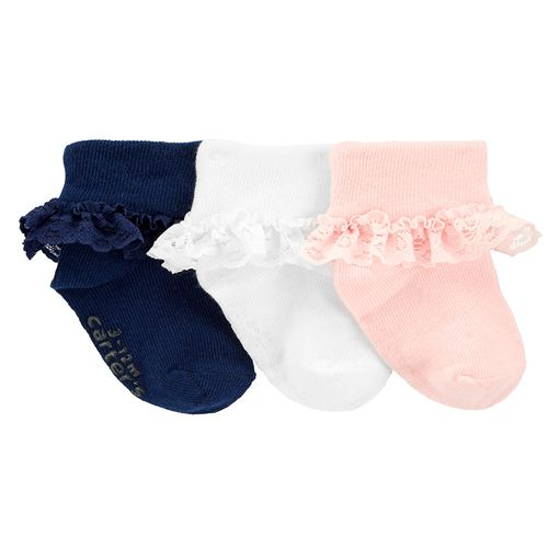 6 calcetines niña con revuelito
