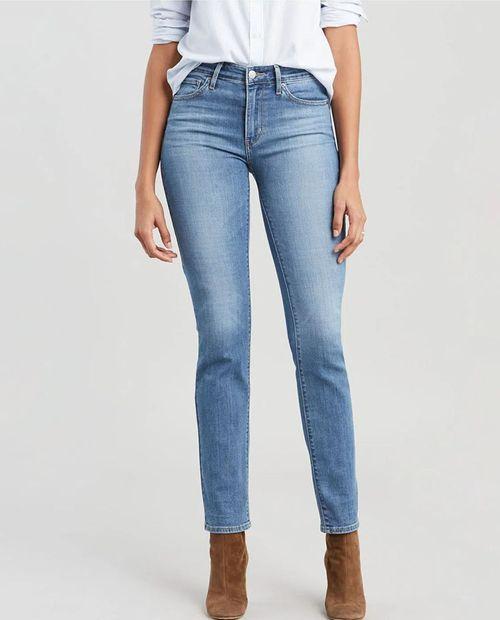 Jeans de mujer levis carbon glow 724 hi rise strt