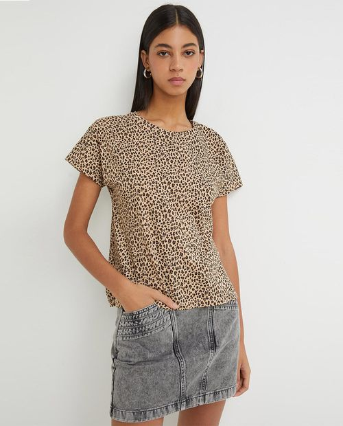 Camiseta básica estamapada t1 natural