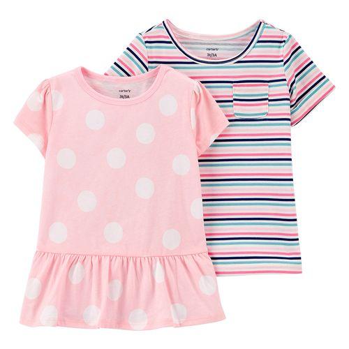 2 pack blusa niña puntos y rayas