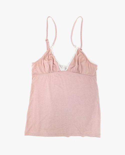 Camiseta color rosa blush
