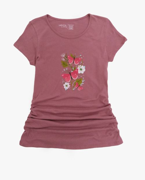 Camiseta c/redondo prt mariposas