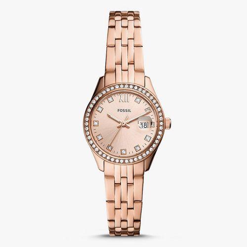 Reloj análogo metalico oro rosa damas