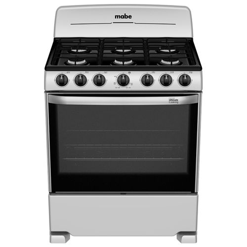 """Cocina Mabe a gas 30"""" silver"""