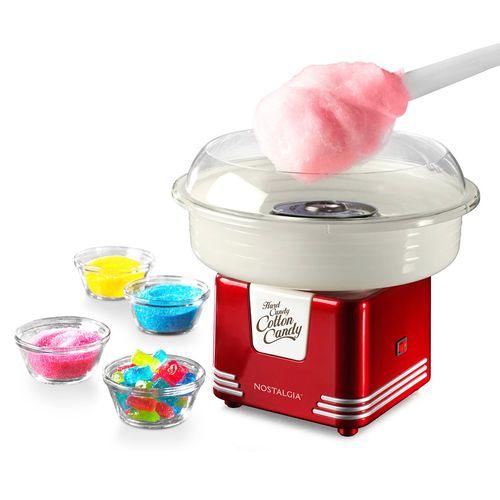 Máquina para hacer algodón de azucar roja