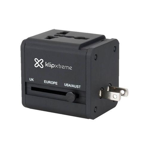 Adaptador para viajes con dos puertos USB