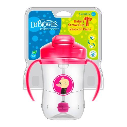 9onz. vasos entrenamiento pajilla babys 1st rosado