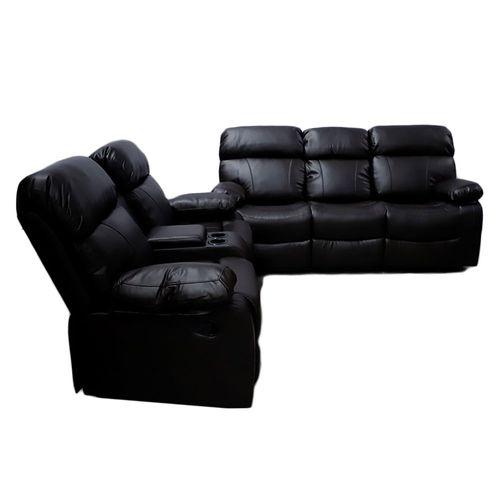 Sala 3-2 reclinable con consola Hilton