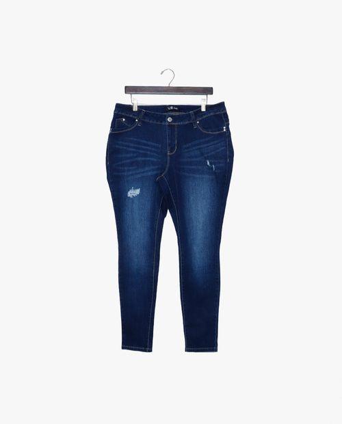 Jeans  s1585 oscuro con rasgaduras