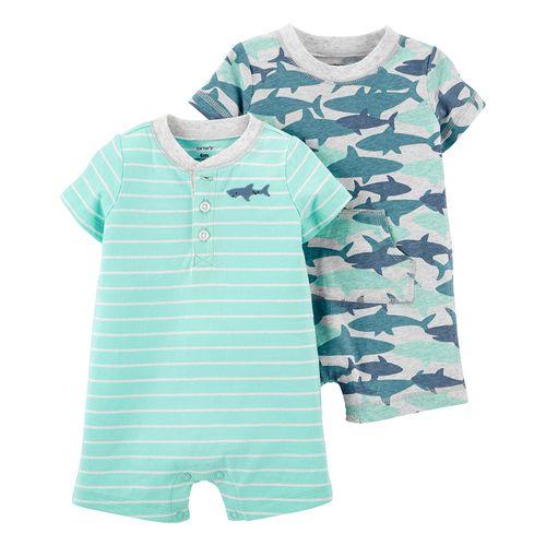 2 pack romper para niño estampado tiburón