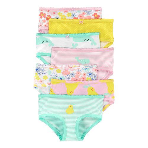 7 pack bloomer para niña varios diseños colores pastel
