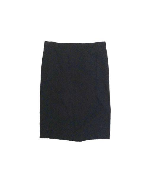"""Falda 25"""" solida negra"""