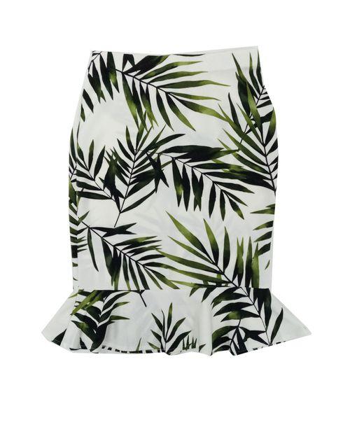 Falda blanca estampado palmeras